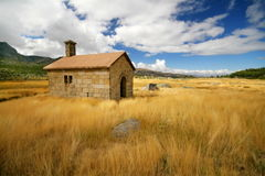 Little house on the prairie Royalty Free Stock Image