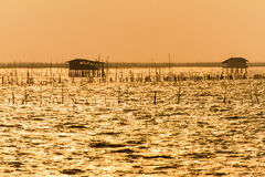 Little House on the sea for fishing. Royalty Free Stock Photo