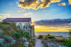 Little house by the sea Stock Image