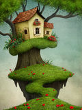 Little House on the tree Stock Photography