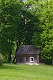 Little house with trees stock images