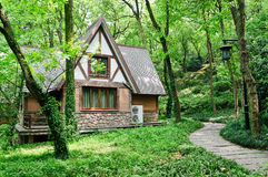 Little house in the woods Stock Image