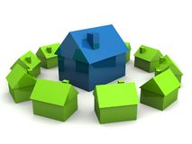 Little houses Royalty Free Stock Photos