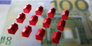 Little Houses. For Financing, Building or insurances Stock Photo