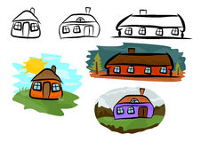 Little houses Stock Photography