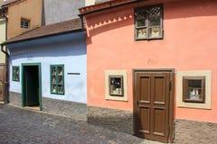 Little houses on Golden street inside of Hrandcany Castle. Zlata ulicka, Praha royalty free stock photos