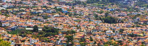 Little houses on the hills Royalty Free Stock Photos