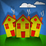 Little Houses - Made in Velvet Stock Image
