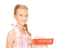 Little housewife Stock Images