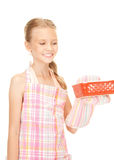 Little housewife Stock Photography
