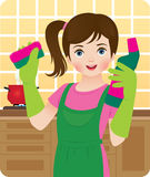 Little housewife Royalty Free Stock Image