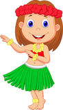 Little Hula Girl cartoon Stock Photo