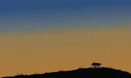 Little hut in the field Stock Image