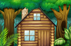 Little hut in the woods Royalty Free Stock Photo