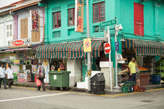 Little India district in Singapore. Royalty Free Stock Images