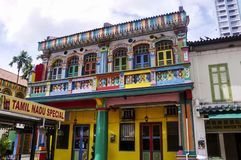 Little India is an ethnic district in Singapore royalty free stock photos