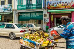 Little India in George Town Malaysia stock images