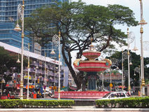 Little India Kuala Lumpur, Malaysia. Beautiful dancing fountain at little india Stock Photography
