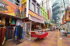 Little India of Kuala Lumpur, Malaysia. Little India  in Kuala Lumpur located at Brickfields area near KL central,It is known as Kuala Lumpur's Little India due Royalty Free Stock Photo