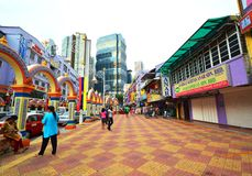 Little India of Kuala Lumpur, Malaysia. Little India in Kuala Lumpur located at Brickfields area near KL central,It is known as Kuala Lumpur's Little India due Stock Image