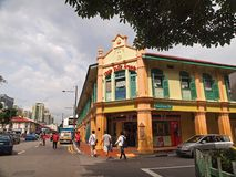 Little India, Singapore. Colorful shop-house located in Serangoon Road, Singapore, also know as 'Little India Stock Images