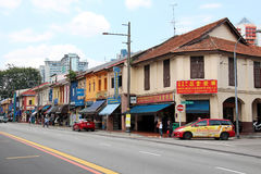 Little India - Singapore. Is an ethnic district in Singapore. It is located east of the Singapore River—across from Chinatown, located west of the river—and Royalty Free Stock Images