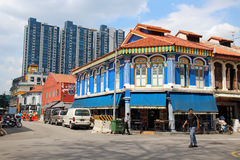 Little India - Singapore. Little India is an ethnic district in Singapore. It is located east of the Singapore River—across from Chinatown, located west of the Stock Photography