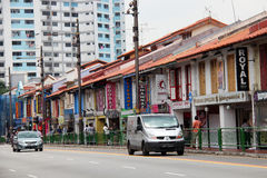 Little India - Singapore. Little India is an ethnic district in Singapore. It is located east of the Singapore River—across from Chinatown, located west of the Stock Image