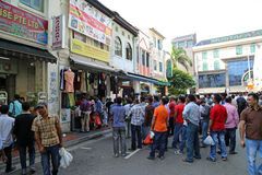 Little India in Singapore Royalty Free Stock Photo