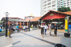 LITTLE INDIA, SINGAPORE - OCTOBER 12, 2015: little india hub of Royalty Free Stock Images