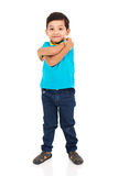 Little indian boy posing. Happy little indian boy posing on white background royalty free stock image