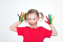Little indian girl scream Royalty Free Stock Image