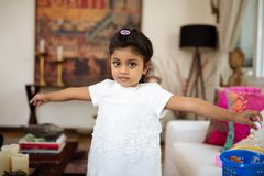 Little Indian girl Stock Photography