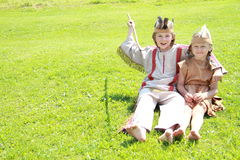 Little indian kids Stock Image