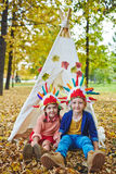 Little Indians stock photography