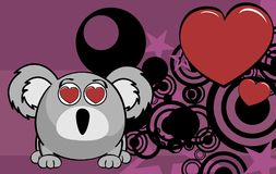 Little inlove ball koala cartoon expression background Royalty Free Stock Image