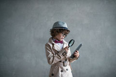 Little inspector Royalty Free Stock Photography