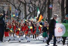 Little Irish Dancers. Children from McCartin School of Irish Dancing from Leitrim, Ireland, during Saint Patrick's Day Parade on 5th Avenue New York Stock Images