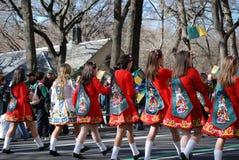 Little Irish Dancers. Children from McCartin School of Irish Dancing from Leitrim, Ireland, during Saint Patrick's Day Parade on 5th Avenue New York Royalty Free Stock Photos