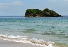 Little Island. Can be seen from Puerto Viejo beach, Costa Rica Stock Photo