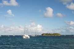 Little island. In the Caribbean Royalty Free Stock Photos
