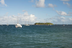 Little island. In the Caribbean Royalty Free Stock Image