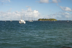 Little island. In the Caribbean Stock Photo