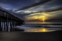Little Island Fishing Pier. Sunrise over the Little Island Fishing Pier Virginia Beach Virginia Royalty Free Stock Photography
