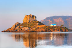 Little island Kastri near Kos, Greece Stock Photo