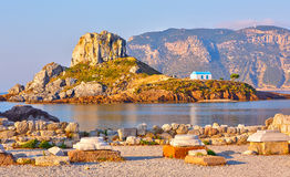 Little island Kastri near Kos, Greece Royalty Free Stock Photos
