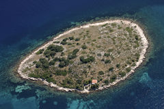 Little island in Kornati archipelago Royalty Free Stock Images
