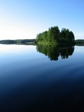 Little island in a lake, Finland Lapland Royalty Free Stock Photography