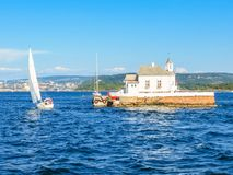 Small island in the Oslo Fjord, Norway Royalty Free Stock Image