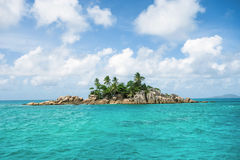 Little Island with palm trees Royalty Free Stock Photo
